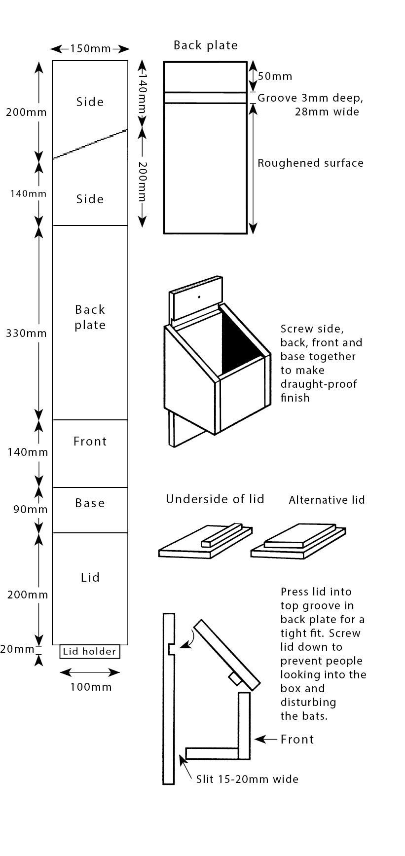 Bat Box Plans Diy Build A The Rspb