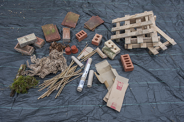Build a bug hotel for Materials needed to build a house