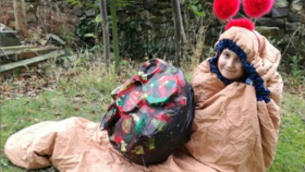 Kitty, aged 9 dressed as a snail