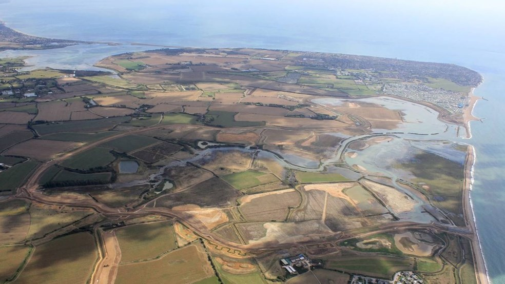 Aerial view of Medmerry